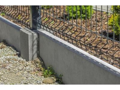 3D забор на ленточном фундаменте