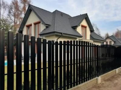 Фигурный забор из евроштакетника