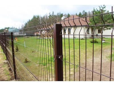Коричневый 3D забор