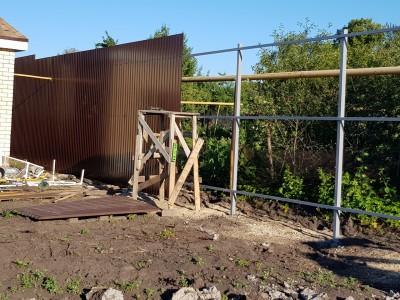 Забор из профнастила высотой 3м, Ral 8017
