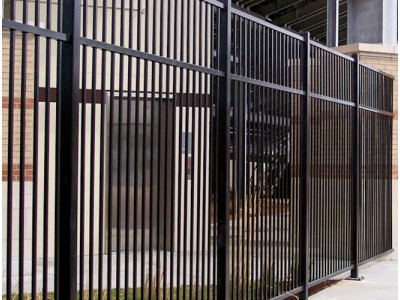 Забор из профильной трубы для администрации