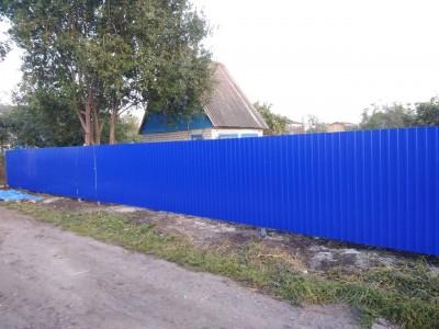 """Забор из профлиста """"Вишнёвый сад"""""""