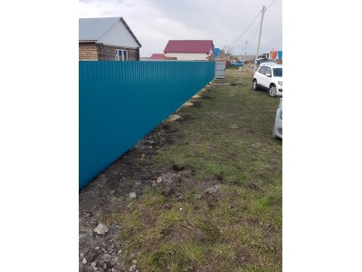 Забор из профнастила высотой 1,7м Ral 5005 под ключ
