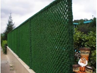 Забор из сетки рабицы - Хвоя декоративная