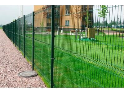 Зеленый 3D забор